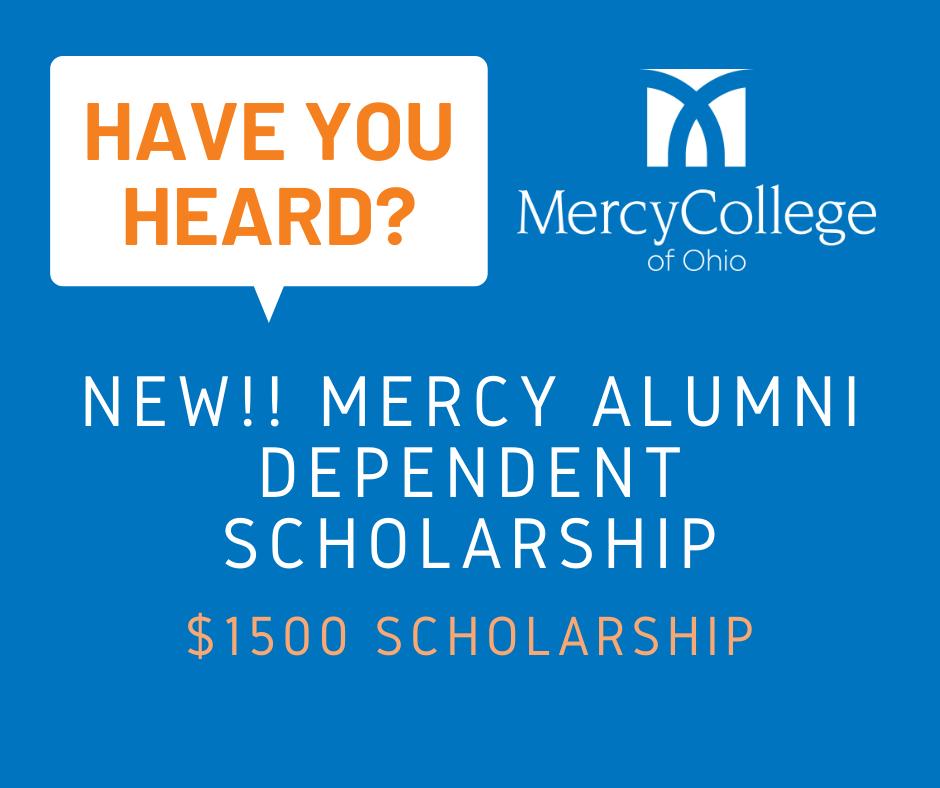 Have you heard - Alumni Dependent Scholarship